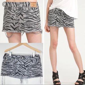 True Religion Mandy Zebra Skirt